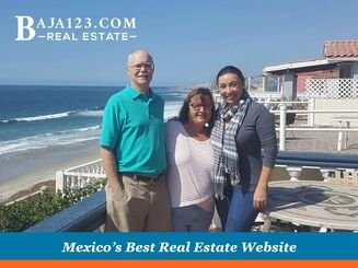 claudia Pierce with first time buyers in Rosarito
