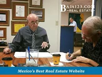 Satisfied Client with the Notario Closing the Deal