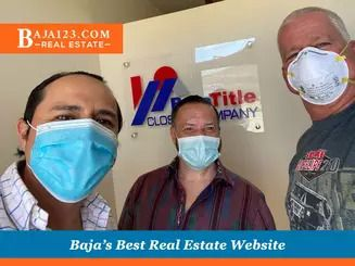 Agents Darrell and Gordon Finishing a Closing with Omar Lima from Baja Title