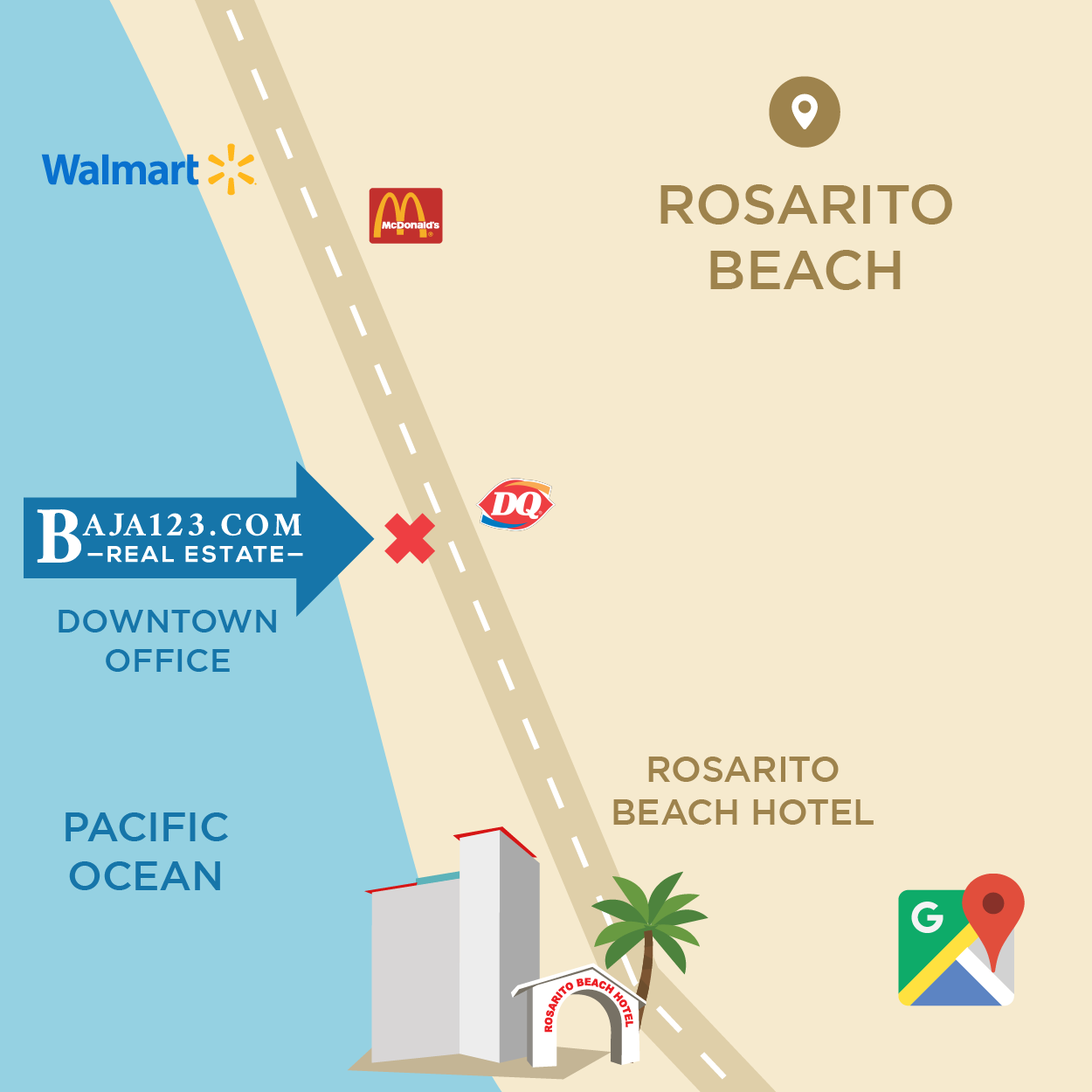 Downtown Office Rosarito Location