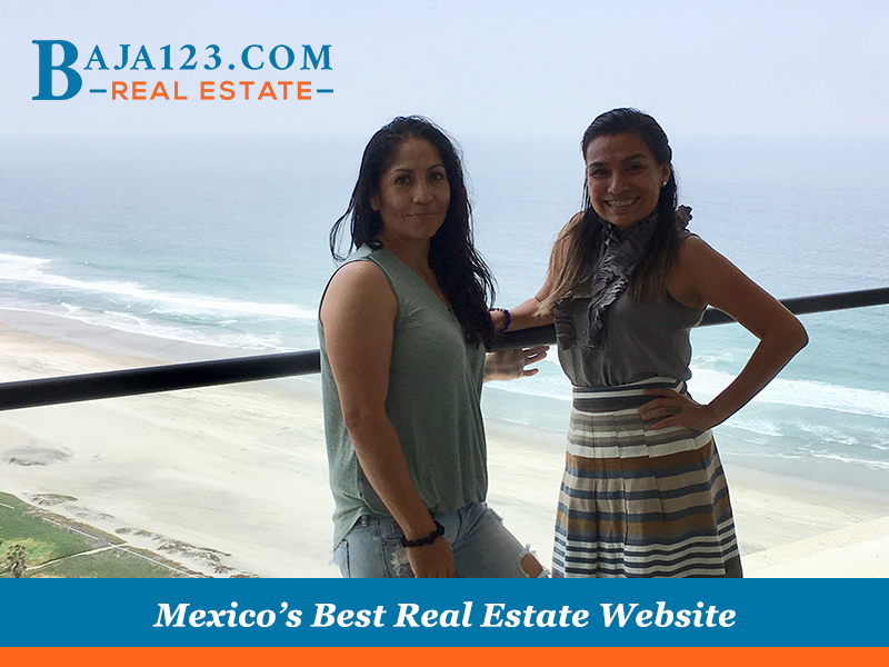 Faby with a Happy Buyer in Rosarito Beach Hotel